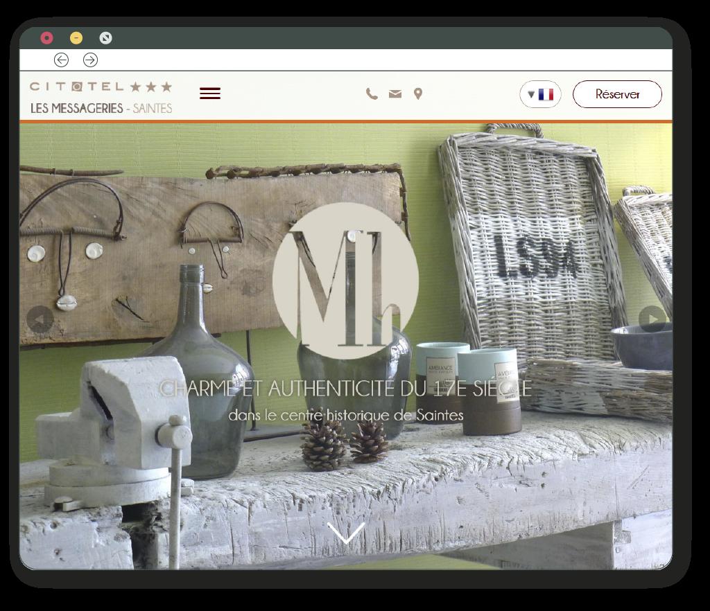 vue ordinateur du site internet responsive